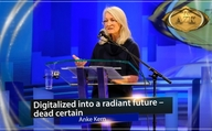 "AZK 16: Lecture by Anke Kern: ""Digitalized into a radiant future – dead certain!"""