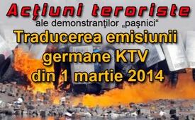 """Acţiuni teroriste ale demonstranţilor """"paşnici"""""""