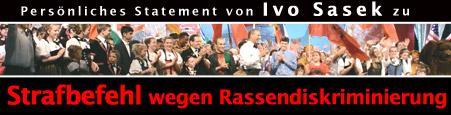 Persönliches Statement von Ivo Sasek zum Strafbefehl wegen Rassendiskriminierung